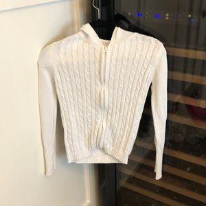 A zip up sweater